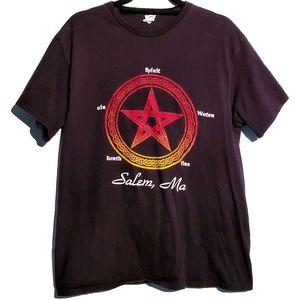 Goth Witch Pagan Pentacle Salem MA Elements TShirt